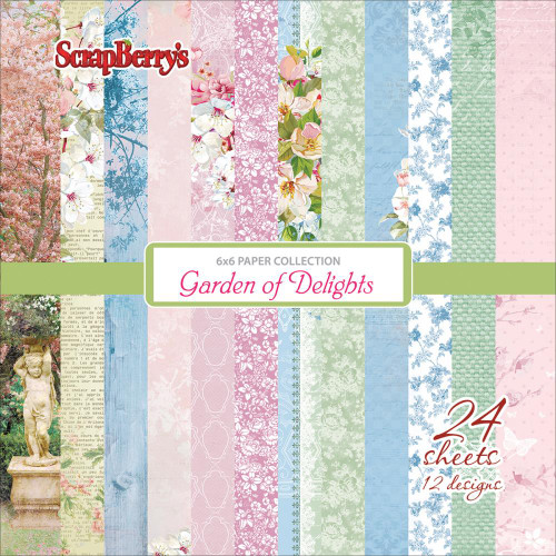 "Garden Of Delights  -  Paper Pack 6""x6"" 24/single sided - ScrapBerry's"