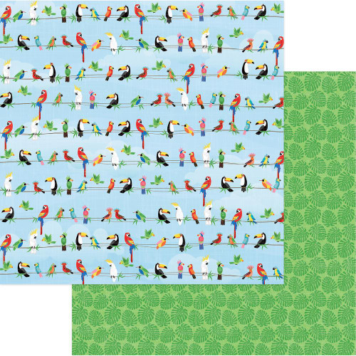 Photoplay - 12x12 scrapbook paper - Aloha - Parrot Bay