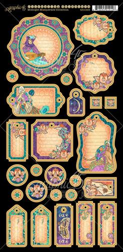 Midnight Masquerade - Graphic 45 - Journaling Chipboard