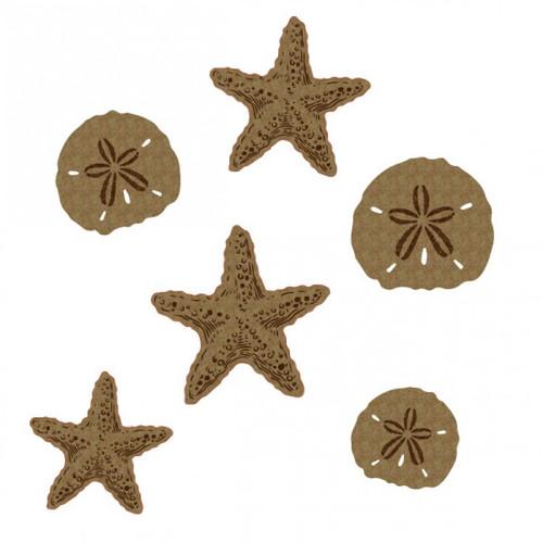 Creative Embellishments - Chipboard - Starfish and Sand dollars