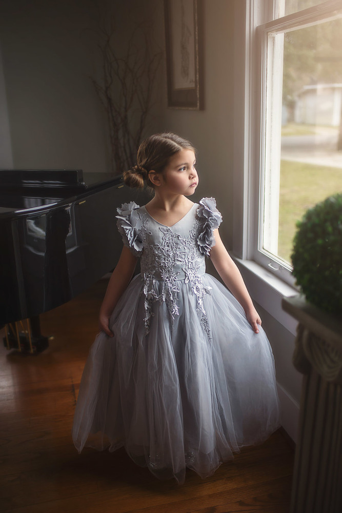 BIANCA GOWN SILVER - Trish Scully Child