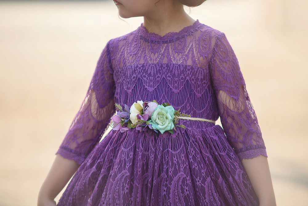 RAFAELA DRESS & BELT SET SUGAR PLUM