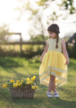DELPHINE DRESS-SUNSHINE