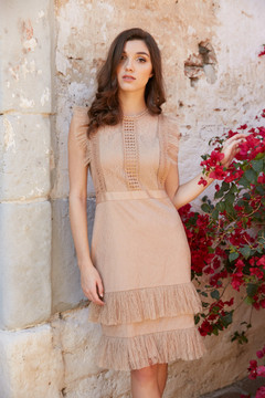 """""ABBY DRESS-GOLD """""