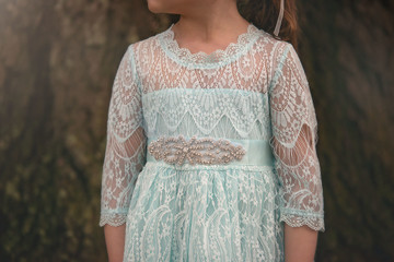 BELLA RAFAELA DRESS & BELT SET SKY