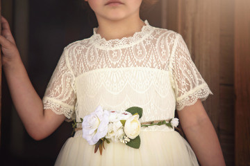 """""""""""""""""""""""""""GRACIE GOWN AND BELT SET IVORY"""""""""""""""""""""""""""