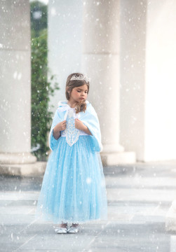 """SNOW PRINCESS GOWN & CAPE SET"""