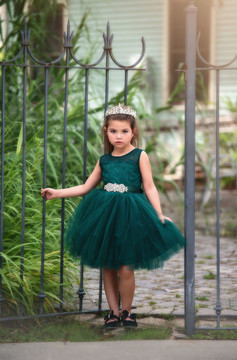 FRANCESCA DRESS EMERALD