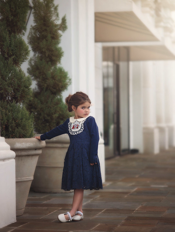 """""""""""LIBBY DRESS-NAVY BLUE""""''"""