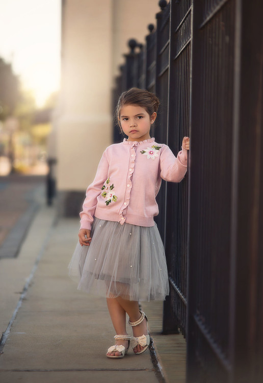"""""""""""BETSY SWEATER & SKIRT SET PINK & GREY"""""""""""