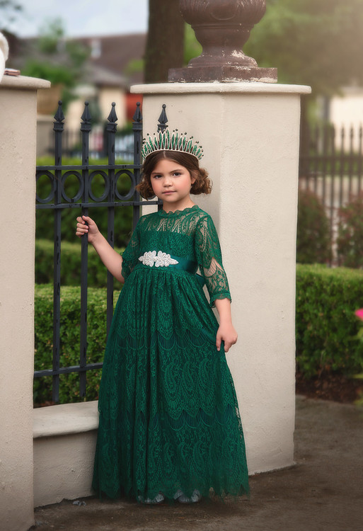 BELLA RAFAELA GOWN EMERALD
