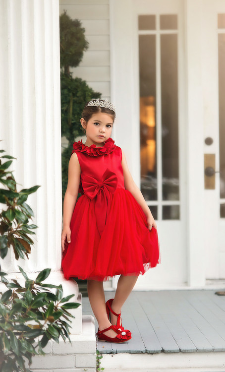 AERALINA DRESS CRIMSON