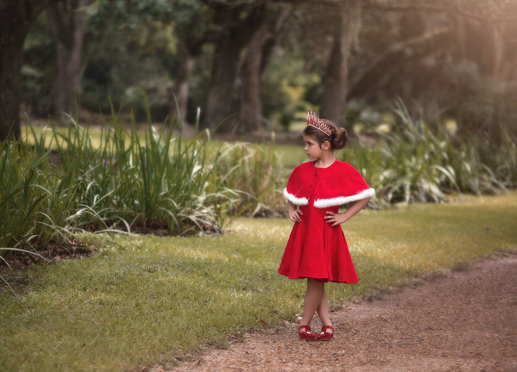 KATERINA DRESS & CAPE SET RED