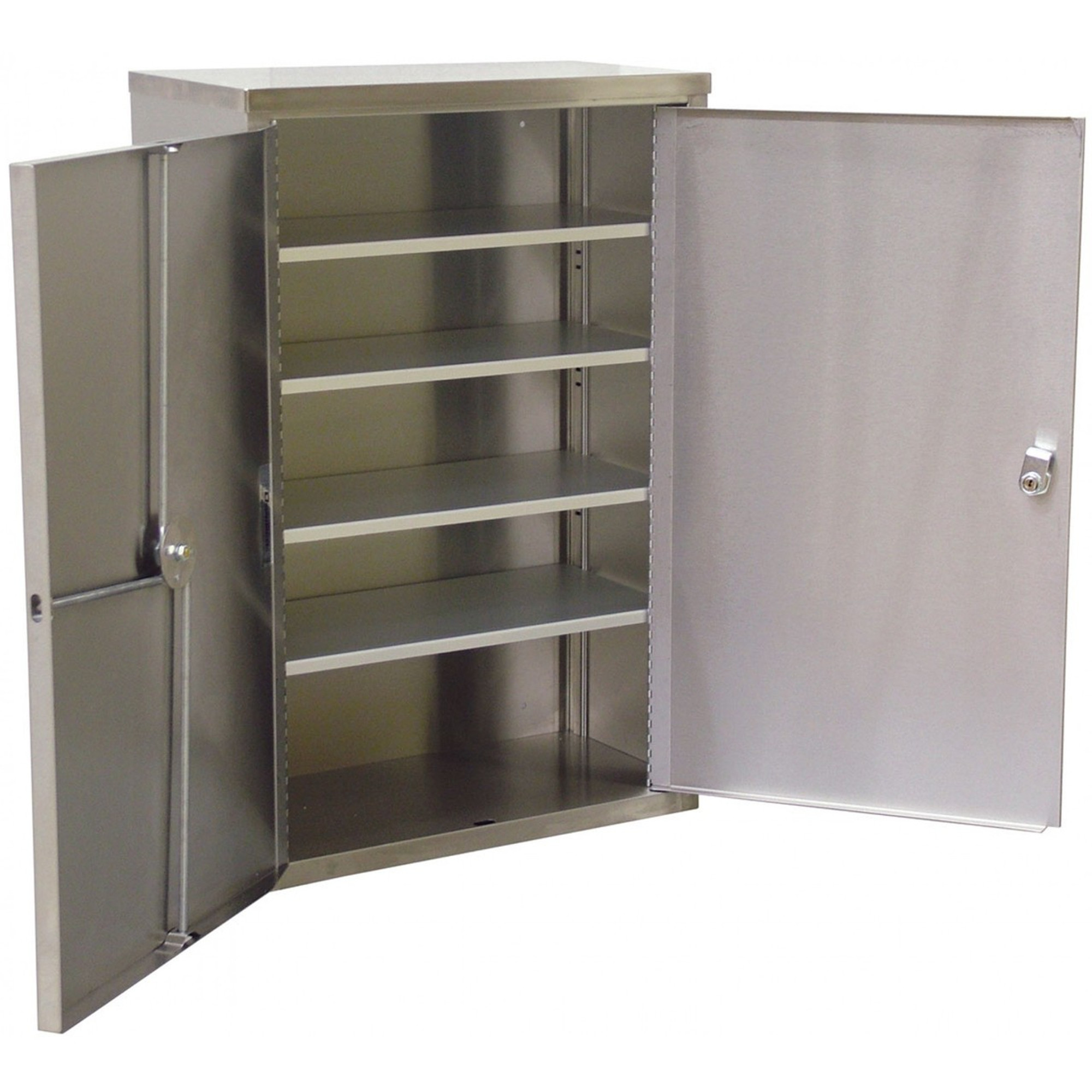 Double Door Narcotic Cabinet W 4 Shelves 24 H X 16 W X 8