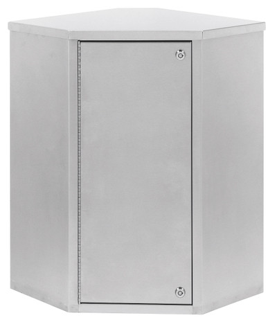 "Corner Double Door Narcotic Cabinet (24""H X 22.8""W X 15.6""D)"