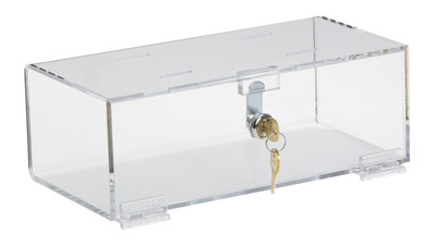 Clear Acrylic Refrigerator Lock Box (Size & Lock Options Available)