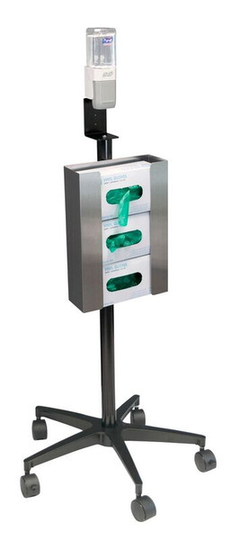 Mobile Glove & Hand Sanitizer Stand (350351)