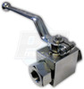 "1/2"" FPT Zinc Plated Steel Ball Valve"