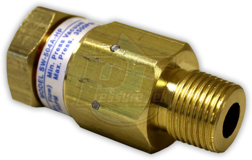 """Brass Hose Swivel 3500 PSI 200 Degree 1/4"""" MPT x 1/4"""" FTP"""