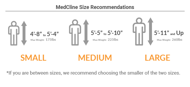 2d273d16937 The MedCline Reflux Relief System is available in three sizes. Please  select the appropriate size based on your height as comfort and  effectiveness are ...