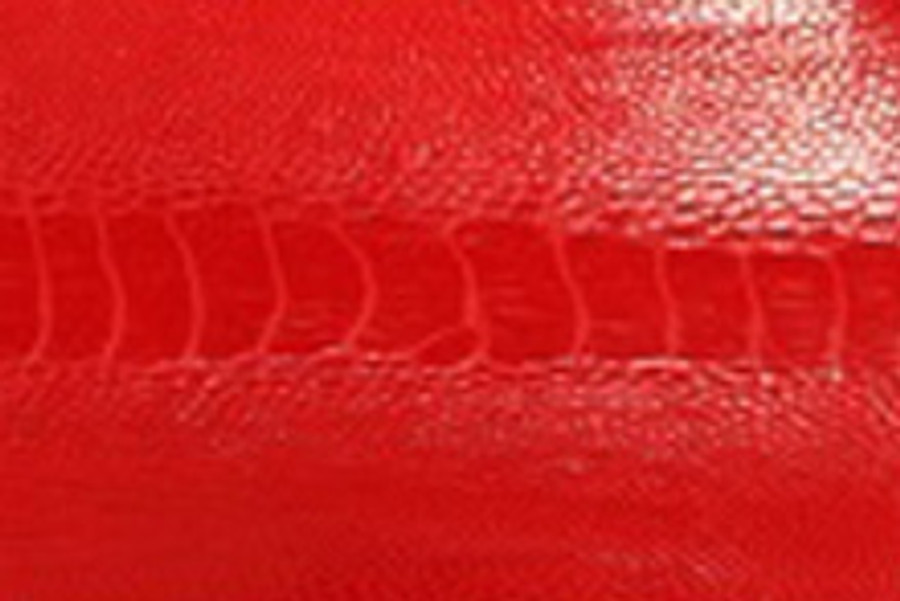 Genuine Ostrich Leg - Glazed Finish in Red