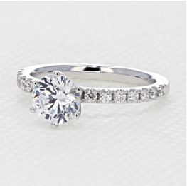 evertrue Micro Prong Engagement Ring