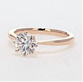 evertrue Rose Gold Solitaire Engagement Ring
