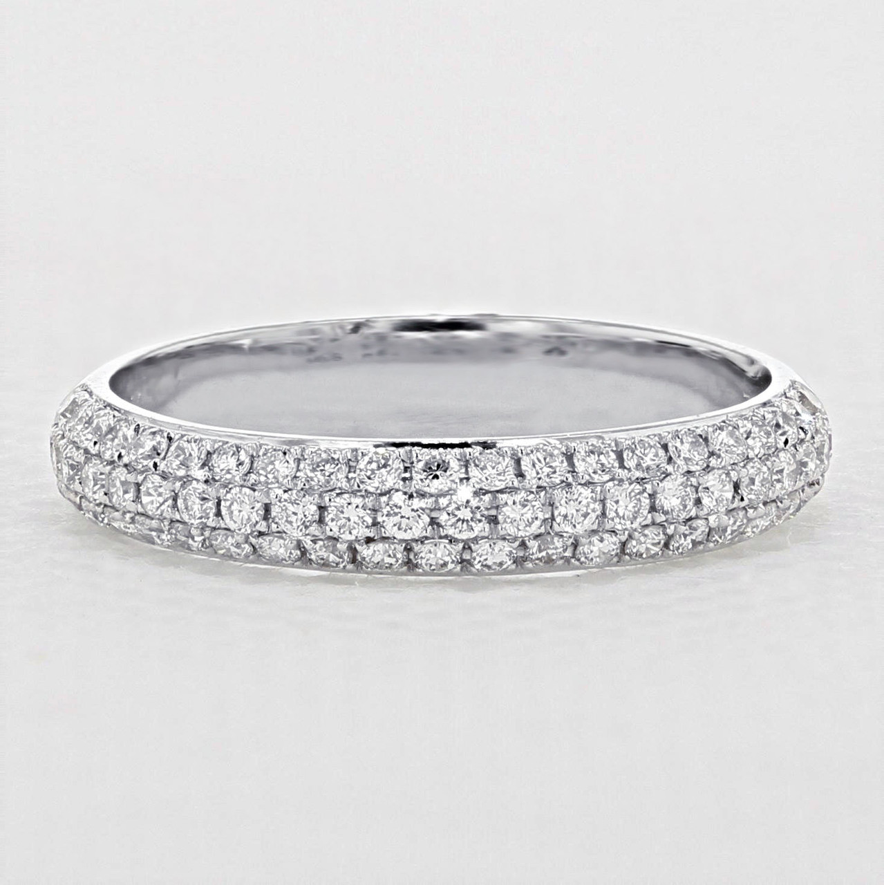 Triple Pavé Set Wedding Band | LB164 | Icing On The Ring