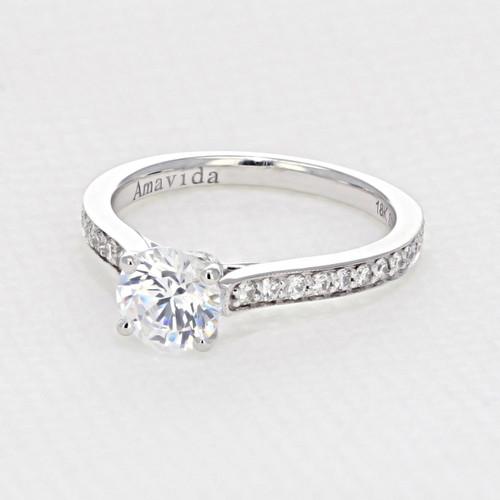 Pave Engagement Ring (AV01)