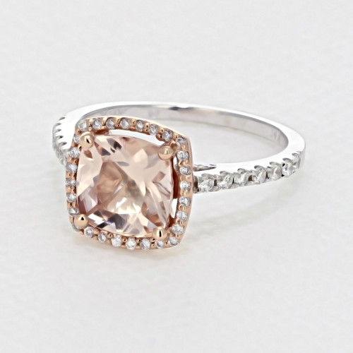 Rose Gold Morganite Engagement Ring (R916-4)