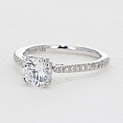 Micro Prong Engagement Ring (AV08)