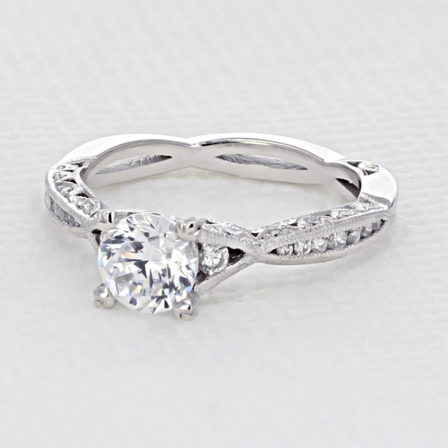 Tacori Classic Crescent Engagement Ring (2645RD61/2W)