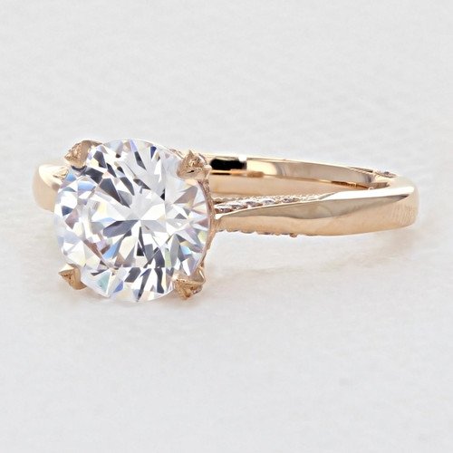 Tacori RoyalT Rose Gold Engagement Ring (HT2625RD85PK)