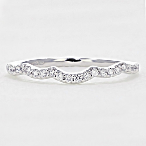 Micro Prong Curved Wedding Band (FG528B)