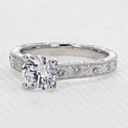evertrue Engraved Engagement Ring (EV20D)