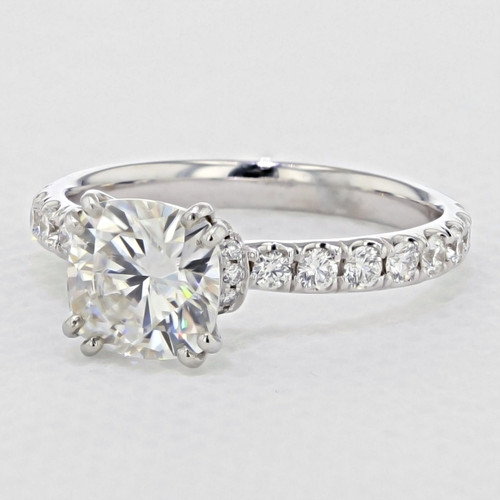 Micro Prong Engagement Ring with 7mm Moissanite (CR198-M)