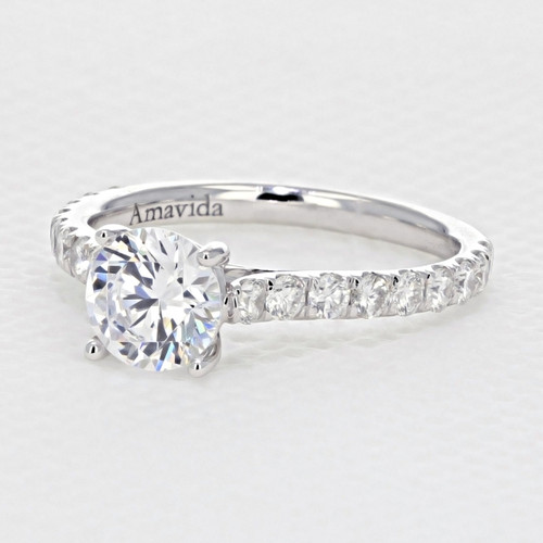 Micro-Prong Moissanite Engagement Ring (AV33-M)