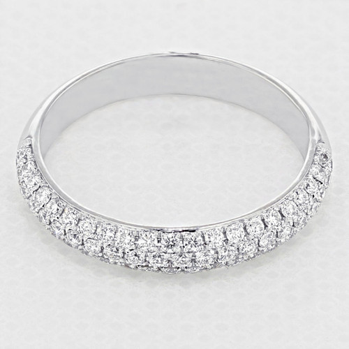Triple Pavé Set Wedding Band (LB164)
