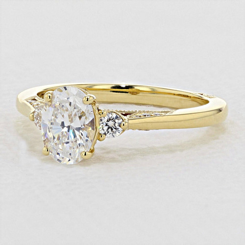 Simply Tacori Yellow Gold Engagement Ring (2656OV75X55Y)