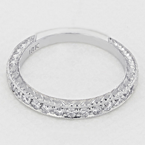 Pavé-Set Wedding Band (LB147)