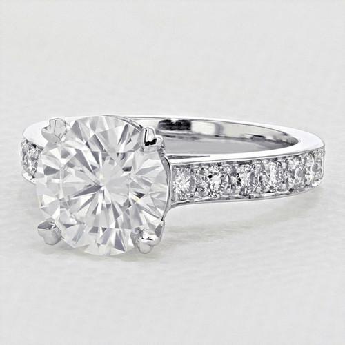 Pavé-Set Moissanite Engagement Ring (2006168)