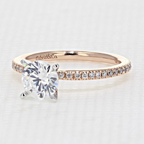 Rose Gold Moissanite Engagement Ring (GC11-M)
