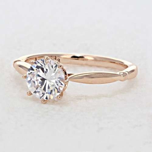 Rose Gold Moissanite Engagement Ring (AV23R-M)