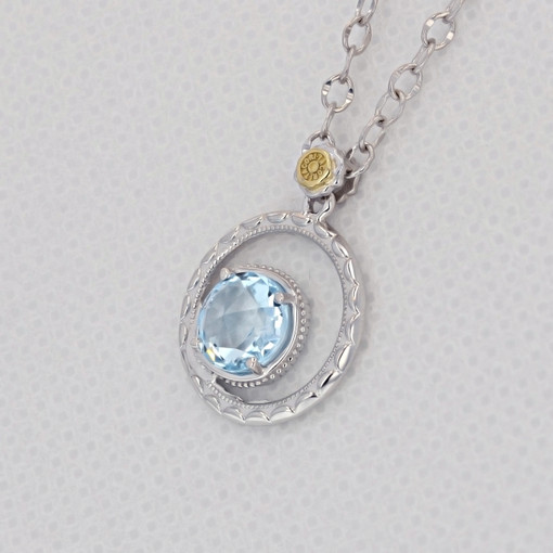 Gemma Bloom Sky Blue Topaz Necklace (SN14002)