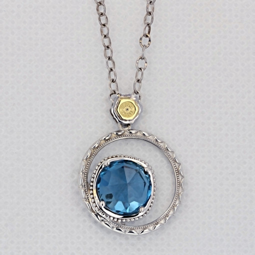 Gemma Bloom Bold London Blue Topaz Fashion Necklace (SN14133)
