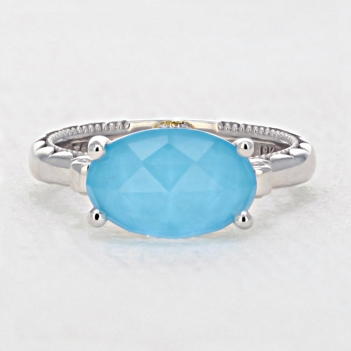 Gemma Bloom Neo-Turquoise Fashion Ring (SR13905)