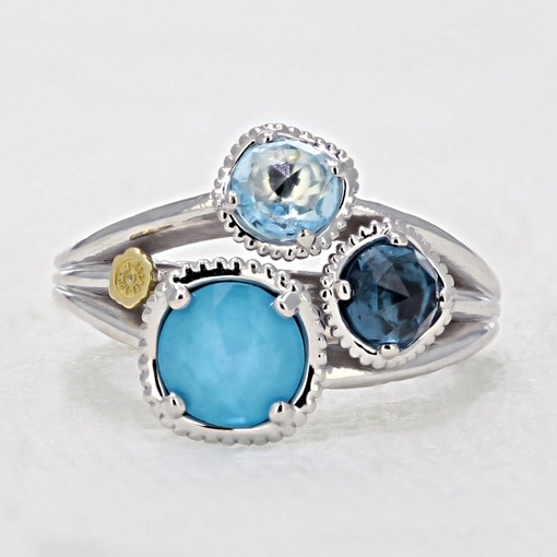 Gemma Bloom Assorted Gemstones Fashion Ring (SR136050233)