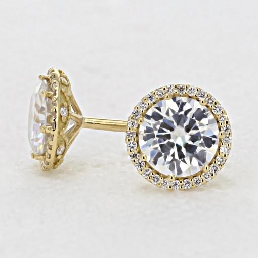 Tacori  Diamond Bloom Moissanite Fashion Earrings (FE6707Y)