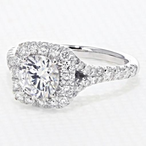 Halo Micro-Prong Engagement Ring (AV21)