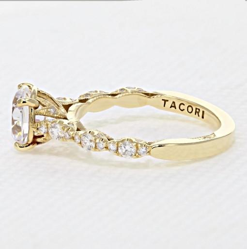 Tacori Petite Crescent Engagement Ring (HT2558RD75Y)
